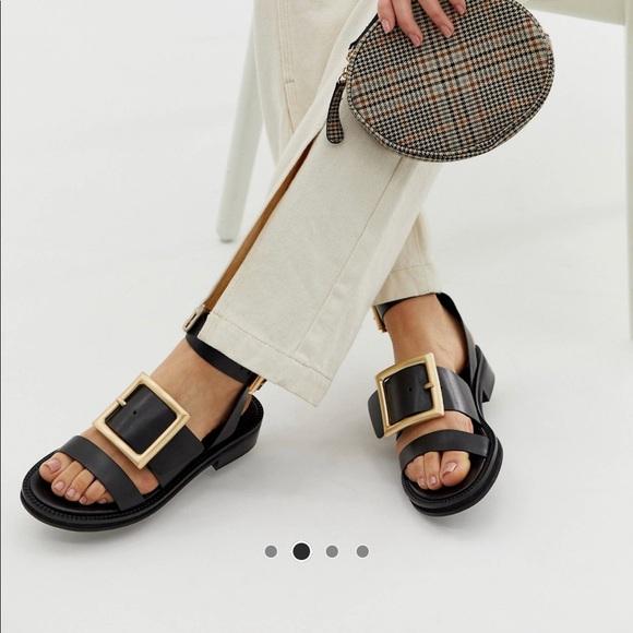 ASOS Shoes - Asos Design forever premium leather flat sandals